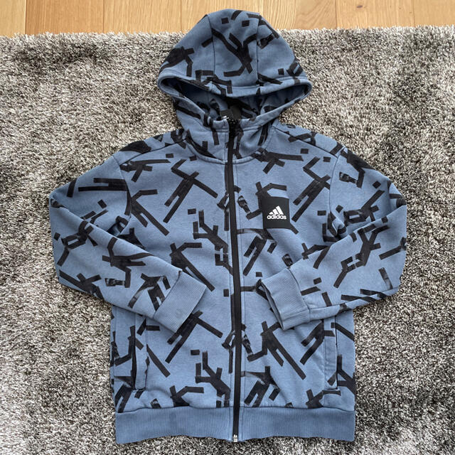 adidas(アディダス)のadidas キッズパーカー 140サイズ キッズ/ベビー/マタニティのキッズ服男の子用(90cm~)(ジャケット/上着)の商品写真