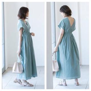 ノーブル(Noble)の【新品タグ付】《追加2》【MARIHA】 夏の光のドレス ブルーA サイズ36(ロングワンピース/マキシワンピース)