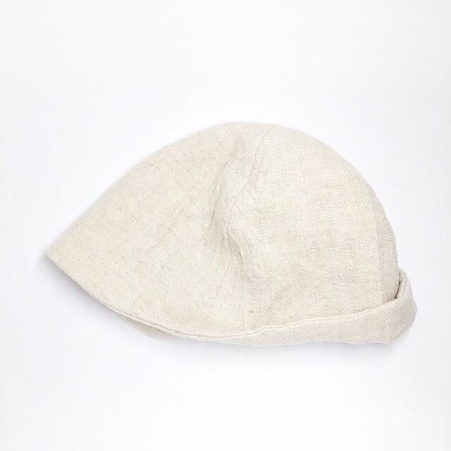 nest Robe(ネストローブ)の新品 ハンドメイド作家さん✨リネンウール ニット帽 キャップ ワッチ ビーニー レディースの帽子(ニット帽/ビーニー)の商品写真