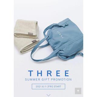 THREE - THREE スリー ソフトタッチタオル & ドローストリングバッグ