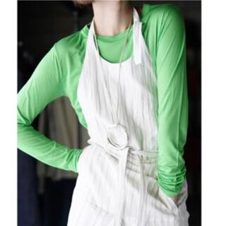 ロンハーマン(Ron Herman)の新品未使用タグ付 baserange ロングスリーブTシャツ グリーン Sサイズ(Tシャツ(長袖/七分))
