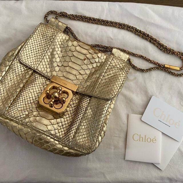 Chloe(クロエ)のChloe パイソンゴールドバッグ レディースのバッグ(ショルダーバッグ)の商品写真