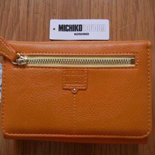 ミチコロンドン(MICHIKO LONDON)のミチコロンドン 二つ折り財布 オレンジ①(財布)