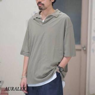 AURALEE HIGH GAUGE PIQUE DOUBLE CLOTH 3(ポロシャツ)