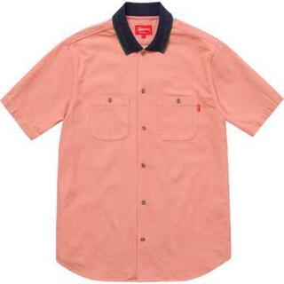 Supreme - Supreme 17ss Rib Collar S/S Denim Shirt