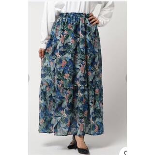リミットレスラグジュアリー(LIMITLESS LUXURY)の美品LIMITLESS LUXURY リーフフラワーロングスカート(ロングスカート)