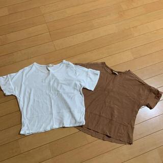 ザラキッズ(ZARA KIDS)のZARA 無地T 2点(Tシャツ/カットソー)