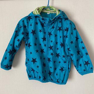 ニシマツヤ(西松屋)のジャンバー アウター 上着 星柄 ブルー サイズ95(ジャケット/上着)