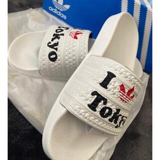 adidas - アディダス サンダル / Adilette Slidesホワイト25.5cm新品