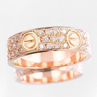 カルティエ(Cartier)の【仕上済】カルティエ ラブリング 18号 PG 58 ダイヤ 指輪 リング(リング(指輪))