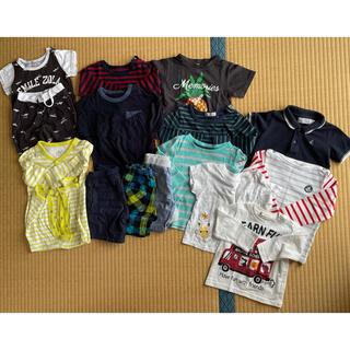 ユニクロ(UNIQLO)のブランド有り ベビー服 夏服 babyGAP ユニクロ プチバトー 80 15点(Tシャツ)