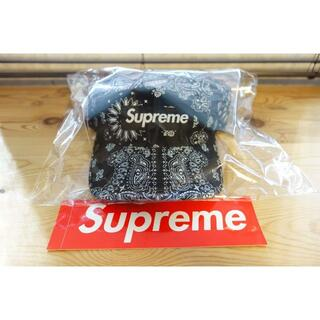 Supreme - Supreme 21SS Bandana Camp Cap Black ①