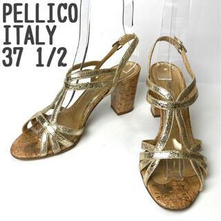 ペリーコ(PELLICO)のPELLICO サンダル イタリア製 高級 チャンキーヒール ストラップ 華やか(サンダル)