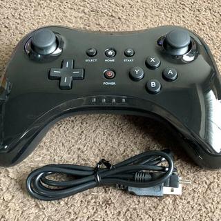 ウィーユー(Wii U)のWiiU ワイヤレスコントローラー / USBケーブル【ほぼ未使用・動作確認済】(その他)