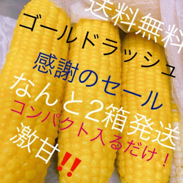 農家直送‼️甘いゴールドラッシュコンパクト入るだけ2箱‼️ 食品/飲料/酒の食品(野菜)の商品写真
