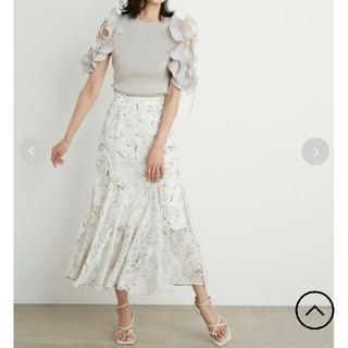 snidel - スナイデル  ヘムフレアプリントスカート サイズ1 正規品 新作