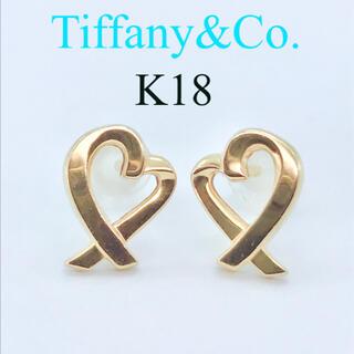 Tiffany & Co. - ティファニー ラビングハート ピアス K18 イエローゴールド パロマピカソ
