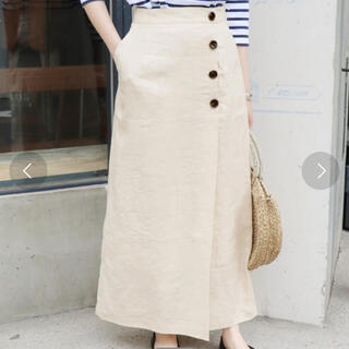 IENA SLOBE - SLOBE IENA  スローブイエナ 麻ボタンタイトスカート 38