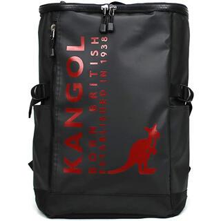 カンゴール(KANGOL)のKANGOL  スクエアリュックブラック/レッドロゴ ¥8800→¥5500(バッグパック/リュック)