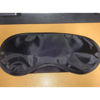 アイマスク 黒 ブラック(旅行用品)