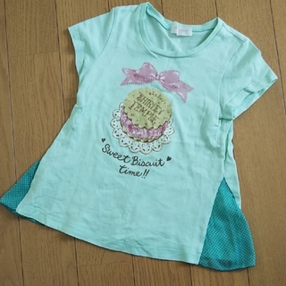 Shirley Temple - シャーリーテンプル 130 グリーンTシャツ