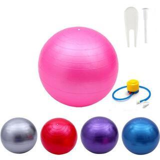 バランスボール 65cm ピンク フットポンプ //bo4(エクササイズ用品)
