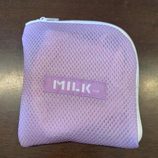ミルクフェド(MILKFED.)のミルクフェド milkfed. マスクケース 紫 パープル そのまま洗濯機可能(ポーチ)