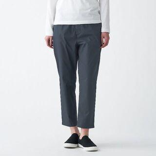 MUJI (無印良品) - ストレッチ高密度織りクロップドパンツ  婦人L ダークグレー