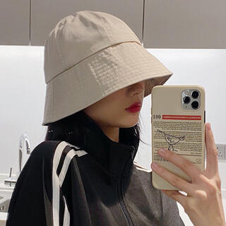 ZARA - 【新品】韓国ファッション つば広バケットハット
