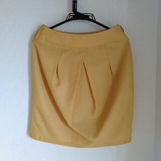 バーニーズニューヨーク(BARNEYS NEW YORK)の【美品】Barney's NEW YORK スカート 黄色(ひざ丈スカート)