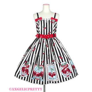 アンジェリックプリティー(Angelic Pretty)のCherry Stampジャンパースカート(ひざ丈ワンピース)