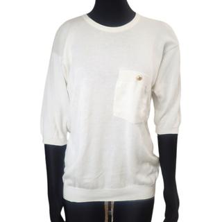 シャネル(CHANEL)のシャネル ココマーク ニットセーター ホワイト白シロ 40800075794(ニット/セーター)