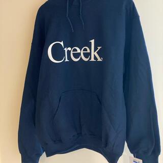 min-nano Creek Logo Hoodie M Navy ミンナノ別注