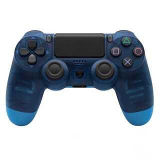 PS4 ワイヤレスコントローラー ブルークリスタル ブルースケルトン 青色透明色