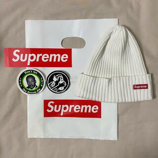 Supreme - supreme ニット帽 ビーニー 白