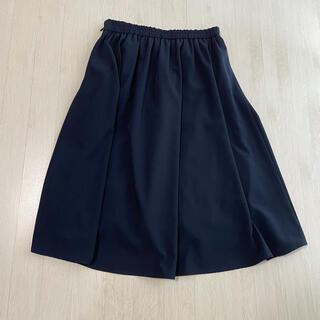 ガリャルダガランテ(GALLARDA GALANTE)のCOLLAGE スカート ネイビー フリーサイズ(ひざ丈スカート)