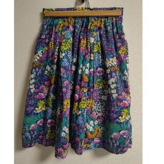 アーバンリサーチ(URBAN RESEARCH)の☆アーバンリサーチ☆リバティプリントスカート ワンサイズ(ひざ丈スカート)