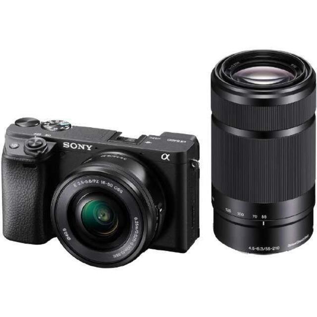 SONY(ソニー)のSONY α6400 ダブルズームレンズキット ILCE-6400Y ブラック スマホ/家電/カメラのカメラ(ミラーレス一眼)の商品写真
