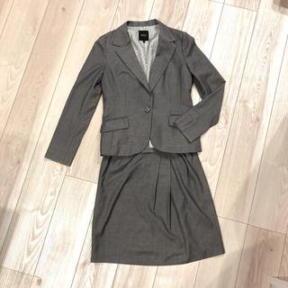 インディヴィ(INDIVI)のINDIVI スカートスーツ グレー(スーツ)