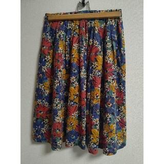 フレディアンドグロスター(FREDY & GLOSTER)の☆フレディ&グロスター☆リバティプリントスカート 38 M(ひざ丈スカート)