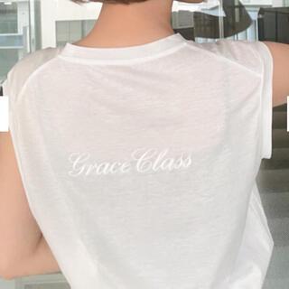 GRACE CONTINENTAL - グレースコンチネンタル グレースクラス バックロゴ刺繍ノースリーブ