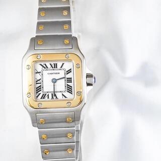 カルティエ(Cartier)の【仕上済】カルティエ サントスガルベ SM コンビ レディース 腕時計(腕時計)