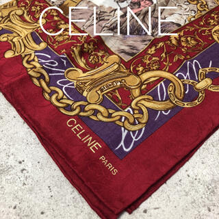 celine - CELINE 大判ハンカチ スカーフ