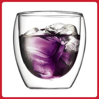ボダム(bodum)のボダム PAVINAダブルウォールグラス 250ml 1個(グラス/カップ)