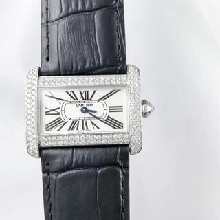 カルティエ(Cartier)の【仕上済】カルティエ ミニ タンク ディヴァン ダイヤ レディース 腕時計 (腕時計)