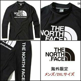 ザノースフェイス(THE NORTH FACE)の新品 ノースフェイス ラッシュガード メンズ 長袖 水着 黒/2XL K94D(Tシャツ/カットソー(七分/長袖))