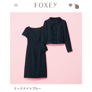 FOXEY - Foxey サクセススーツ♥ミッドナイトブルー 42
