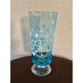 トウヨウササキガラス(東洋佐々木ガラス)のアデリア レトロ 脚付きグラス 難あり(グラス/カップ)