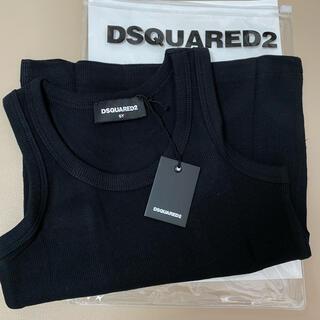 ディースクエアード(DSQUARED2)の新品 DSQUARED2 タンクトップ ブラック 6Y(Tシャツ/カットソー)