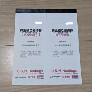 イオン(AEON)のユナイテッドスーパー 株主優待券 6000円分(ショッピング)